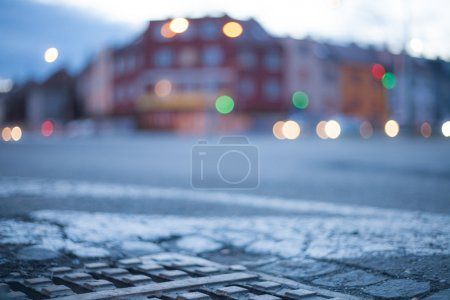 Photo for Blurred background with night city - Royalty Free Image