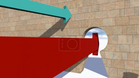 Photo for The Right Choice (red version) made in 3d software - Royalty Free Image