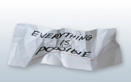 """Photo pour Mot » tout est possible """"sur papier torned sur fond dégradé - image libre de droit"""