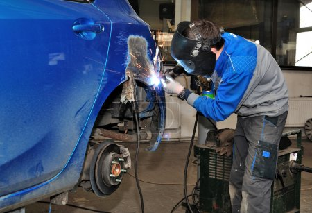Car welding.