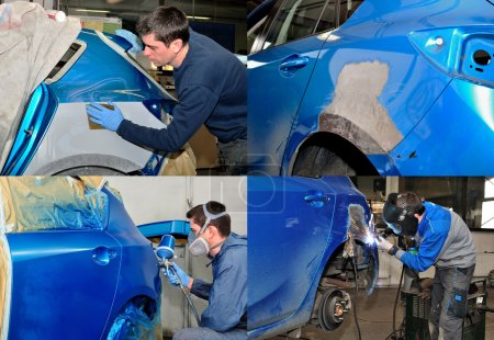 Car body work.
