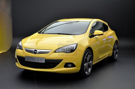 FRANKFURT - SEPTEMBER 18: Opel Astra GTC, car shown at the 64th Internationale Automobil Ausstellung (IAA) on September 18, 2011 in Frankfurt, Germany