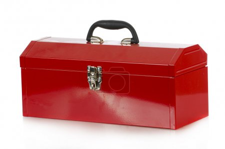 Photo for Red tool box isolated on white background - Royalty Free Image