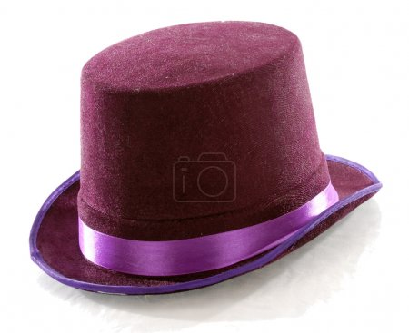 Purple top hat isolated