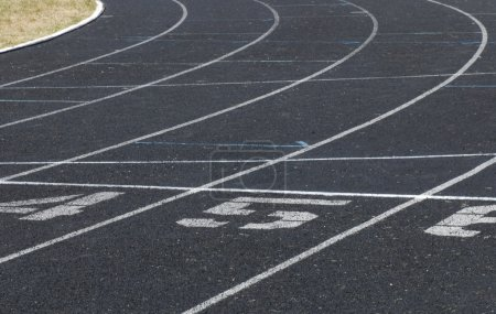 city high school running track details showing lanes