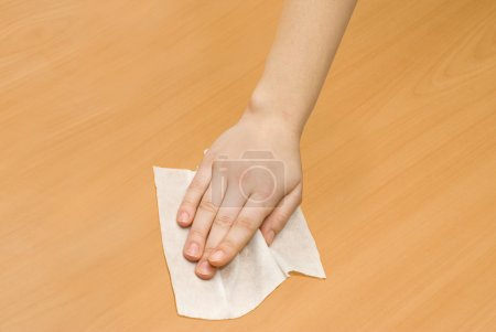 Wet wipe kithchen cleaning