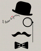 hipster in bowler hat