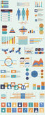 Vector set of infographic elements concerning to medical themes