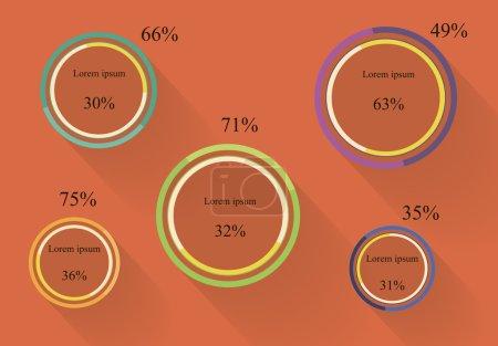 Pie charts flat infographics