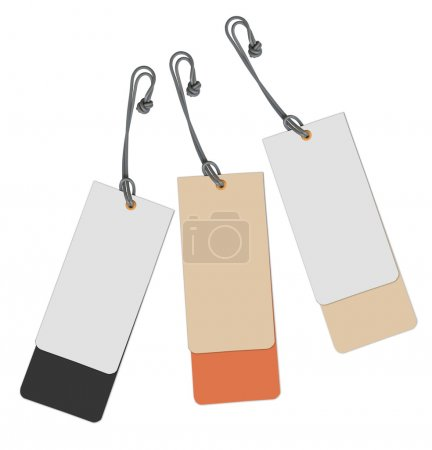 Set of multi-coloured labels