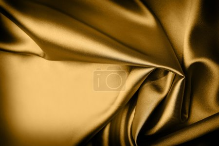 Photo for Smooth gold silk background with place for text - Royalty Free Image