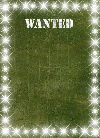 Photo pour Affiche vintage verte dans un style étoilé - image libre de droit