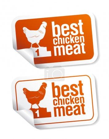 Best chicken meat stickers