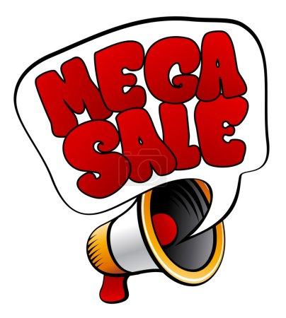 Mega Sale sign from megaphone