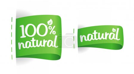 Illustration for Labels for natural production. - Royalty Free Image