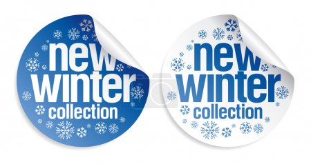 New winter collection stickers