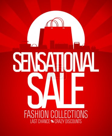 Illustration for Sensational sale design template. - Royalty Free Image