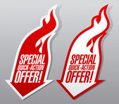 Special quick action offer fiery symbols
