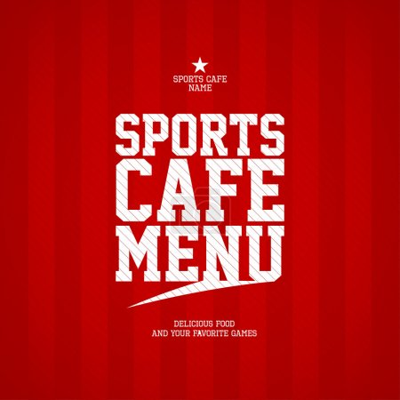 Sports Cafe Menu card template.