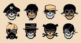 Cartoon freak icons
