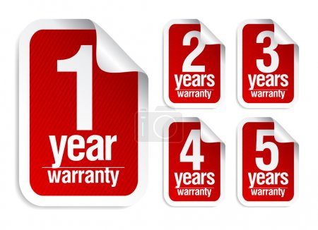 warranty stickers set