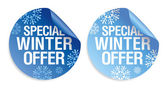 Winter offer stickers
