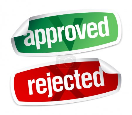 Illustration for Approved and rejected stickers set - Royalty Free Image
