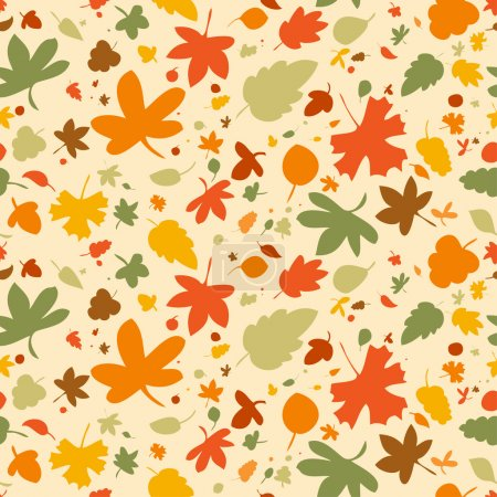 Illustration for Autumn seamless background, vector illustration. - Royalty Free Image