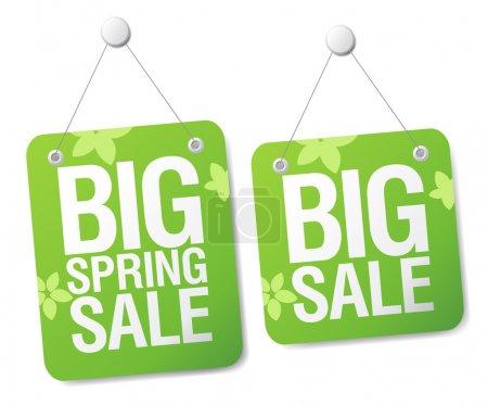 Illustration for Big spring sale signs set. - Royalty Free Image