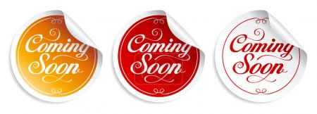 Coming soon stickers.