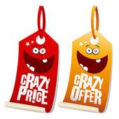 Crazy prodej štítků