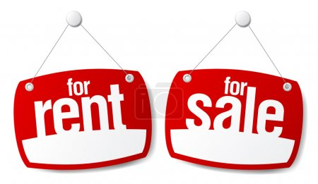 Sale and Rent Signs