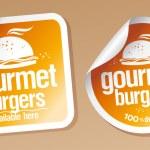 Gourmet burgers stickers set....
