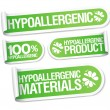 Hypoallergenic products stickers set....