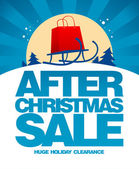 After christmas sale design template