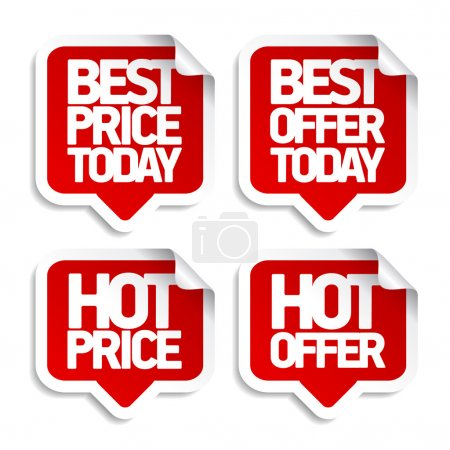 Illustration for Best hot offers speech bubbles set. - Royalty Free Image