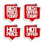 Best hot offers speech bubbles set....