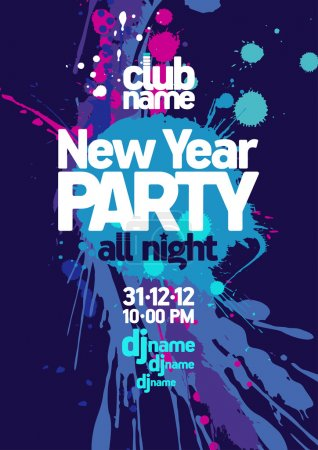 Photo for New Year Party design template. - Royalty Free Image