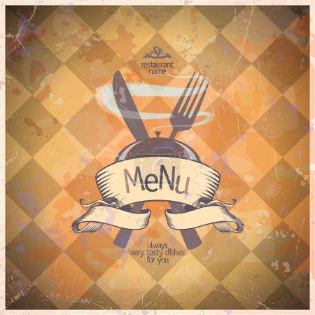 Retro restaurant menu card design.