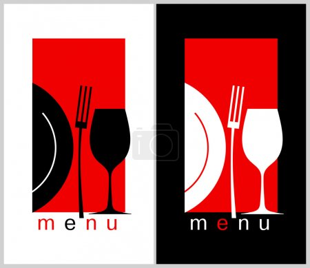 Illustration pour Modèle de carte de menu restaurant Design. Format long . - image libre de droit