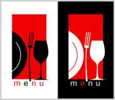 Restaurant Menu Card Design template Long format