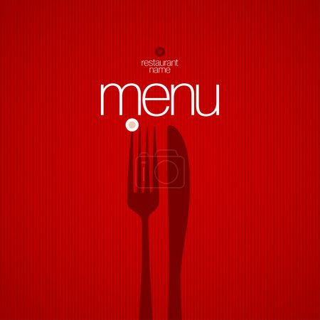 Illustration for Restaurant Menu Card Design template. - Royalty Free Image