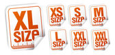 Size clothing stickers