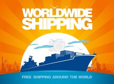 Worldwide shipping design.
