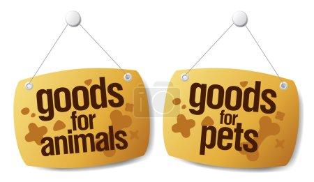 Illustration pour Doods pour animaux de compagnie signes ensemble - image libre de droit