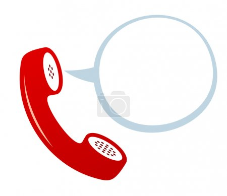 Telephone Icon with speech bubble....