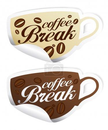Coffee Break stickers.