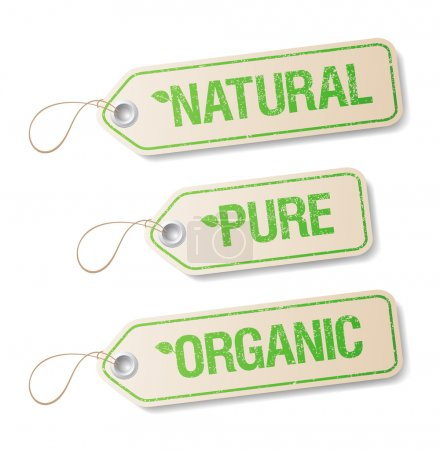 Illustration for Natural, Pure, Organic labels collection. - Royalty Free Image