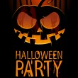 Halloween Party Design template, with pumpkin and ...