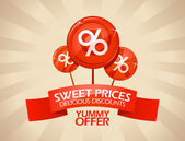 Sweet prices delicious discounts design template